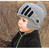 Starry 赤ちゃん ベビー 用 ニット帽 ナイト 西洋 騎士 風 かわいい ニット 帽子 クリスマス プレゼント などに (グレー)