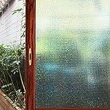 Cviclover 3D窓用フィルム ベランダ目隠し 窓 めかくしシート 浴室プライバシー 装飾 遮光 断熱 紫外線カット 無接着剤 再利用可能 (45 x 200CM, NO.C5MSK)