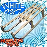 White Out - 110cm Wooden Toboggan / Sleigh / Sled