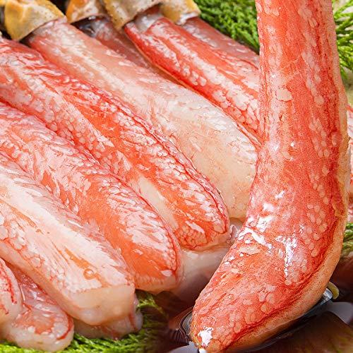 食の達人森源商店 太脚棒肉100% お刺身で食べられる プレミアムずわい蟹ポーション 1kg (15本×2)