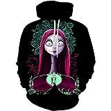 SevenJuly1 The Nightmare Before Christmas Cartoon Hoodies Jack Sally Costume Sweatshirt