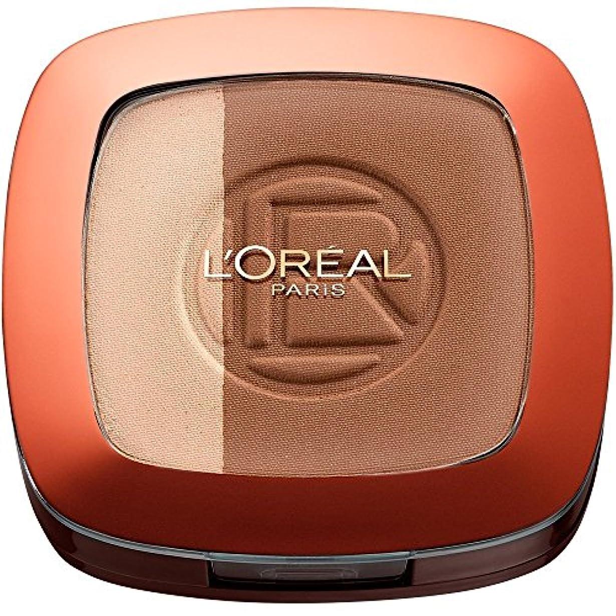 磁気中央値立証するL'Oréal Paris Glam Bronze Duo Number 102 Brunette Harmony
