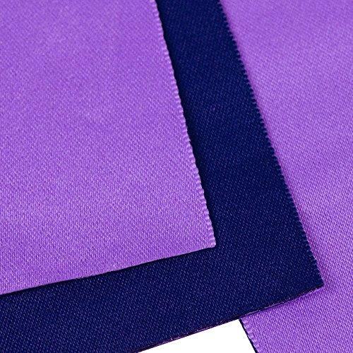 (キョウエツ) KYOETSU 日本製 半幅帯 袴下帯 浴衣帯 リバーシブル 無地 (紫×濃ブルー)
