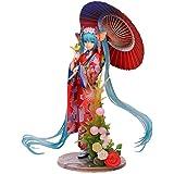 2元のモデル人形を行うには初音ミク手着物中秋節深海花色傘パラシュートアニメハンド(塗装済み完成品フィギュア)