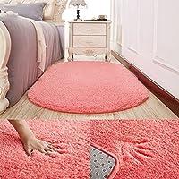 カーペット シンプルな近代的な厚い楕円形のカーペットの床マットホームリビングルームのベッドルームカーペットルームベッドカーペットのフロントブランケット (色 : D, サイズ さいず : 100cm*200cm)