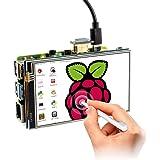 ELECROW 4インチ Raspberry Pi用モニター タッチスクリーン 小型 HDMI LCDディスプレイタッチパネル モニター