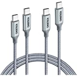 USB C to USB C Cable 2 Pack (100W 20V/5A), CHOETECH USB Type C Braided Fast Charging Cable (6ft) Compatible MacBook Pro 2019