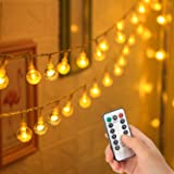 33 FT 80 LED Battery Operated Globe Ball String Lights Fairy String Lights Decor for Bedroom Patio Indoor & Outdoor Party Wed