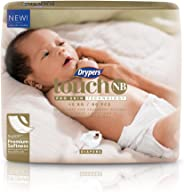 Drypers Touch New Born Diapers, 80 Count