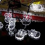 Yalufa イルミネーションライト 30LED サンタクロース ストリングライト 発光色 ホワイト ソーラー充電式 光センサー内蔵 自動点灯 2発光モード 防水防雨 クリスマス 飾り