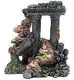 R-STYLE 水槽を彩るオーナメント 古代建築物 シリーズ 網付モデル (サンゴ岩礁と柱 網付モデル)