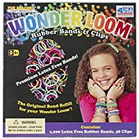 Wonder Loom Rubber Bands And Clips Refill Set- by Beadery [並行輸入品]