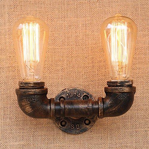 Fuloon ブラケットライト 工業風 蛇口 水道管 レトロ 照明器具 アンティーク調 壁掛け照明器具 (2灯(蛇口))