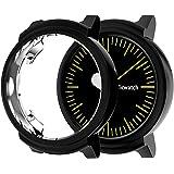 対応Ticwatch Eアクセサリーケース、TPUメッキスクリーンプロテクター、頑丈なカバー[傷防止]オールラウンド保護バンパーシェル対応Ticwatch Eスマートウォッチ (ブラック)