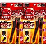 【2個】スリムウォーク 美脚タイツあったか満足プラス M-Lサイズ ブラックx 2個 (4902522672139-2)