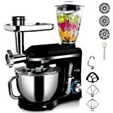 5.5L StandMixerwithBlender MeatGrinder Juicer for Kitchen PowerfulElectric Mixers withPouringShield, 5in1 Function