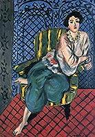 Henri Matisse–女性椅子に座って 24x36 HMatisse-WomanChair-24x36-WC