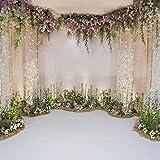 Leyiyi 6x6ft Photography Background Wedding Ceremony Backdrop Marriage Engagement Celebration Flower Blossom Arch Door 3D Hal