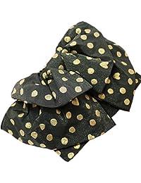 ジュニア浴衣作り帯 水玉ハート 黒 子供兵児帯 ゆかた帯 ドット 日本製