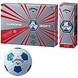 Callaway(キャロウェイ) ゴルフボール CHROME SOFT X TRUVIS ゴルフボール(12個入り) ユニセックス 6424054122544 ホワイト/ブルー 中間層:アイオノマー