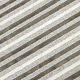 洗えるラグ ボーダー柄 ストライプ模様 ラグマット strishe-185240-be (SUL)  約185×240cm (約3畳相当) ライトブラウン