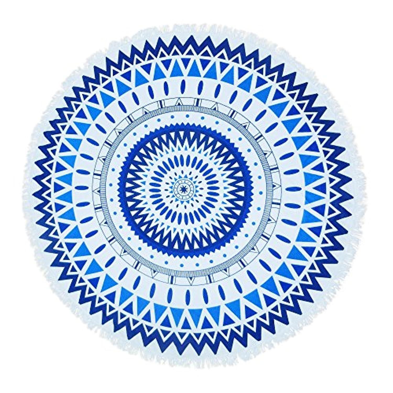 créer ラウンドビーチタオル ビーチマット円形 厚手 大判 海 インテリア ラグ おしゃれ