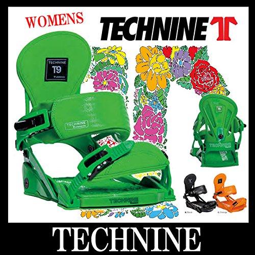 14-15 TECHNINE / テックナイン WOMENS ELEMENTS レディース ビンディング バインディング スノーボード M(23.0~25.0cm) BLACK