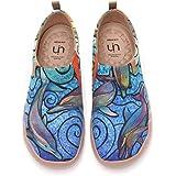 [UIN] 海洋 アート シューズ ローファースリッポン レディース 旅靴 シューズ カジュアルシューズ カップル靴 ウォーキングシューズ 超軽量 通気 ギフト 男女兼用