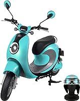 【Amazon.co.jp限定】 電動バイク XEAM notte V2 ライトブルー【限定特典】 専用ヘルメット ライトブルー XM-AZNLBLHGLBL