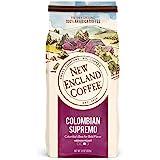 New England Coffee Colombian Supremo, Medium Roast Ground Coffee, 11 Ounce (1 Count) Bag
