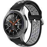 TERSELY Sport Replacement Band Strap for Samsung Gear S3 / Galaxy Watch 46mm / Watch 3 45mm, 22mm Soft Silicone Bands Fitness