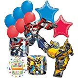 Transformers Birthday Party Supplies 13pc Optimus Prime and Bumble Bee Balloon Bouquet Decorations