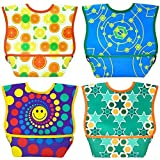 Dex Baby Dura-bib Big Mouth- 4 Pack (Fruit, Happy, Map, Stars) 6-24 Month by DEX [並行輸入品]