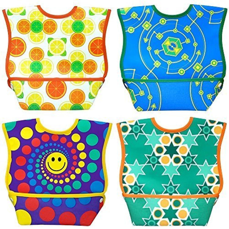 Dex Baby Dura-bib Big Mouth- 4 Pack (Fruit, Happy, Map, Stars) 6-24 Month by DEX [並行輸入品]