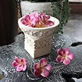 【アジアン雑貨】 お花模様のボウルセット バリリゾート パラスストーン オブジェ 置物 バリ島