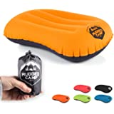 Rugged Camp Camping Pillow - Inflatable Travel Pillows - Multiple Colors - Compressible, Lightweight, Ergonomic Head Neck Sup