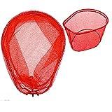 カラー ラバー網 玉枠セット レッド 66×51cm カラー付きPVCラバーコーティングネット付 アルミフレーム RB-C. ランディングネット ワンピース Lサイズ