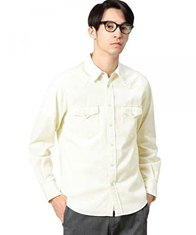Corduroy Western Shirt 1211-163-6739: Off White