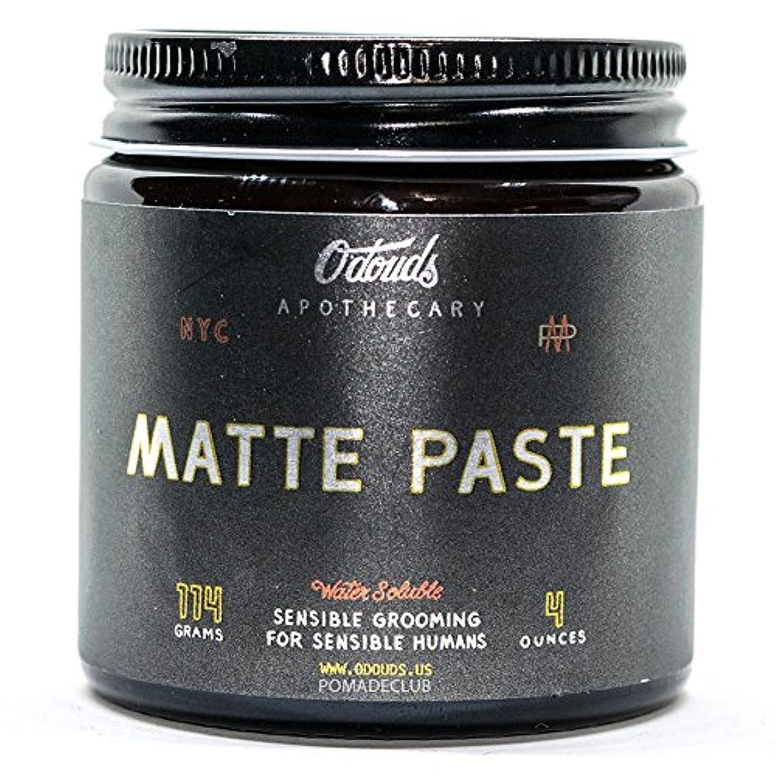 道路明示的に農業のO'Douds (オダウズ) マットペースト MATTE PASTE メンズ 整髪料 水性 ポマード ヘアグリース ヘアワックス クリームタイプ ツヤなし ストロングホールド