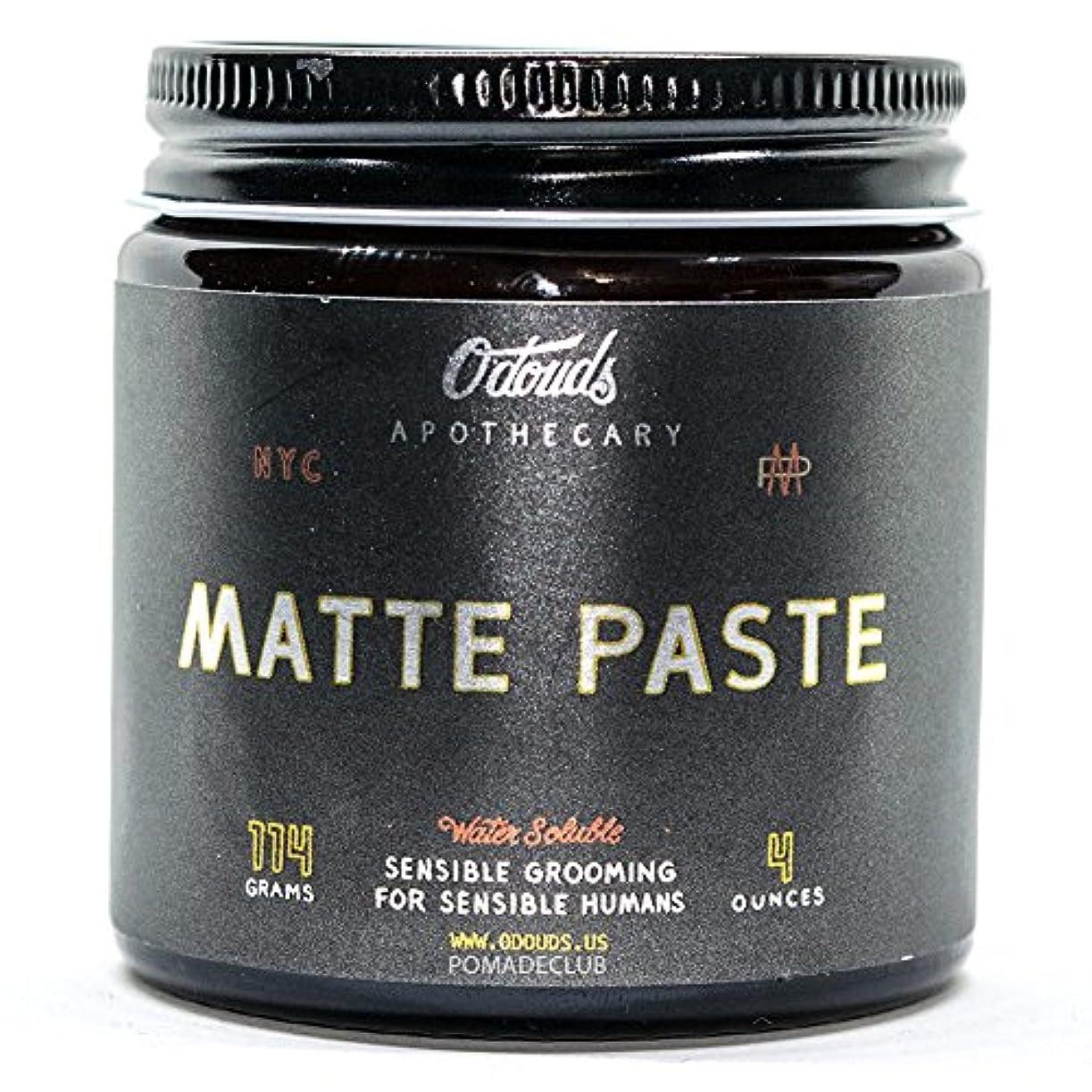 葉っぱ拮抗する深くO'Douds (オダウズ) マットペースト MATTE PASTE メンズ 整髪料 水性 ポマード ヘアグリース ヘアワックス クリームタイプ ツヤなし ストロングホールド ヴィーガン