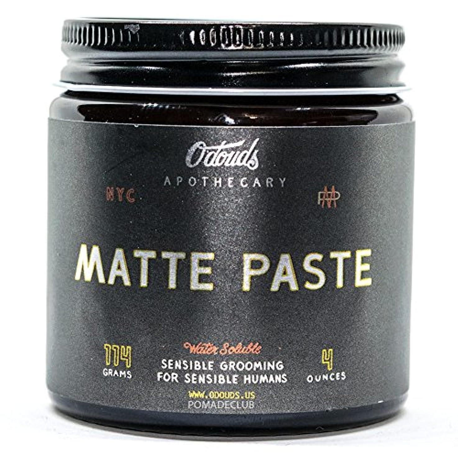 量で電極スクリーチO'Douds (オダウズ) マットペースト MATTE PASTE メンズ 整髪料 水性 ポマード ヘアグリース ヘアワックス クリームタイプ ツヤなし ストロングホールド ヴィーガン