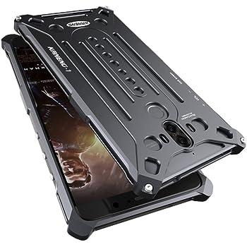 Huawei Mate 9 金属フレーム Huawei Mate 9 に対応 個性的メタルバンパーカバー ケース 金属製 耐衝撃 ケース (ブラック)