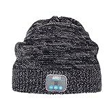 August EPA20 Bluetooth 帽子 Bluetoothニット帽子 音楽やハンズフリー通 話可能 スマホ iPhone iPad PC タブレットなどに対応 (コーヒー)