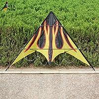 デュアルラインFlame Stunt Kiteアウトドア楽しいスポーツ1.6 MパラシュートKitesurf Flying Kites For Children