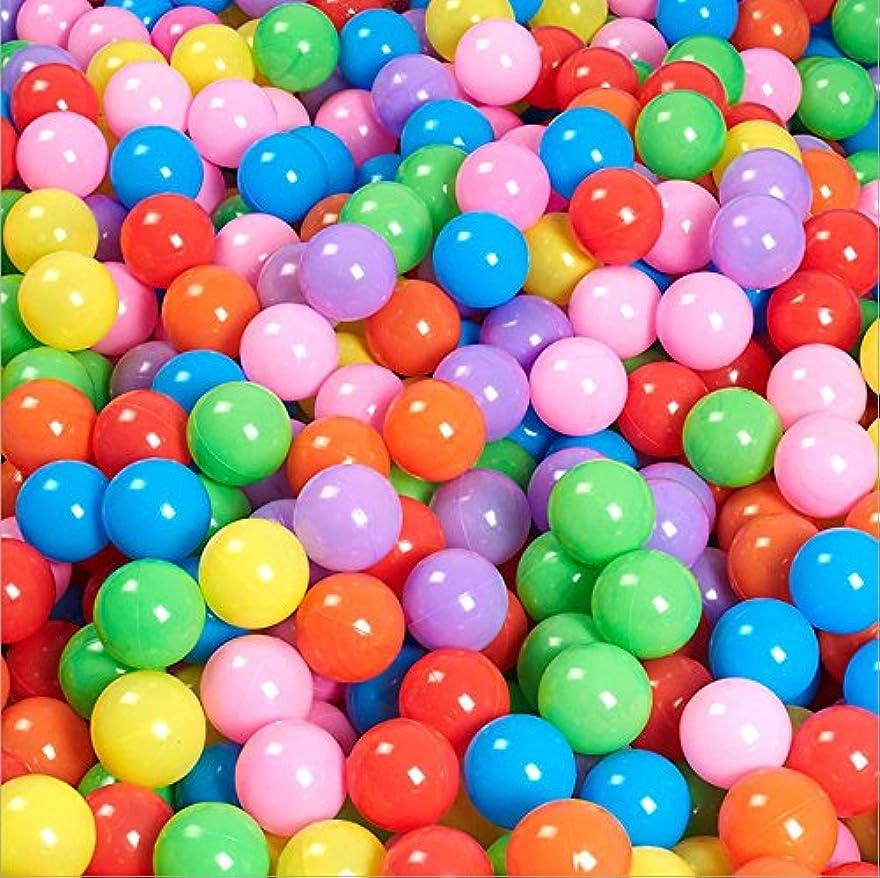 憤る列挙する五Ruior 100個 5.5cm 楽しいソフトプラスチック オーシャンボール スイミングピット おもちゃ 赤ちゃん 子供 おもちゃ カラフル マルチカラー 69176965