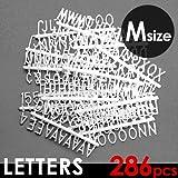 レターズ Letters 《Mサイズ》 286個入り 文字 アルファベット