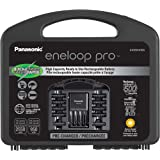 Eneloop Panasonic K-KJ55KHC82A pro High Capacity Rechargeable Batteries Power Pack 8AA, 2AAA, 4 Hour Quick Battery Charger an
