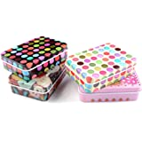gootrades 4 Pack Mini Iron Tin Box Jewelry Cards Coin Storage Rectangular Bags Case