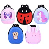 ebuddy 5pcs Cartoon Style Mini School Backpack Doll Bag Accessories for 12-18 inch Dolls