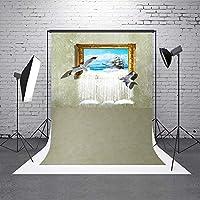 Vprine 写真背景幕 3D 子供写真撮影用背景 写真 ビデオ 写真スタジオ用 5x7フィート